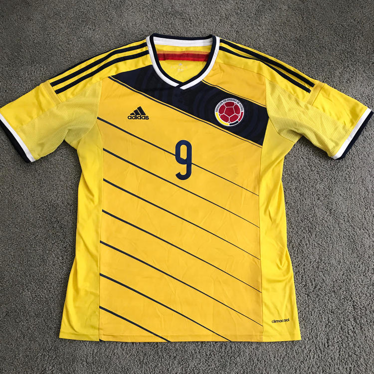 3e8388909 ... 9 Away Soccer Jersey ... adidas falcao colombia home jersey fifa world  cup brazil 2014 ...
