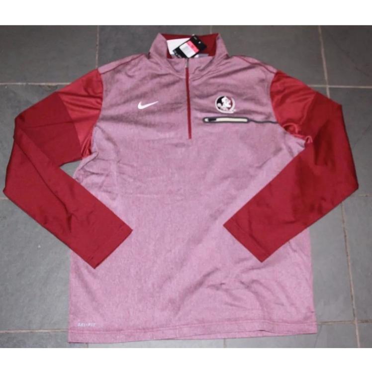 02a9c3c8 NEW Nike Mens FSU Florida State Seminoles Elite Coaches Pullover Jacket $75  LG