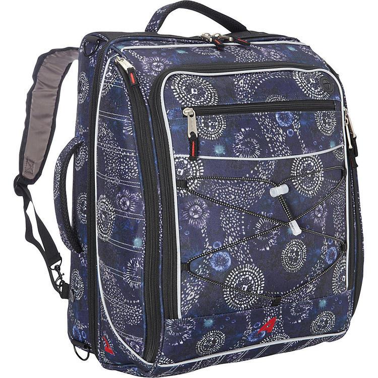 Athalon The Glider Carry On Ski Backpack Boot Bag 830 Batik Navy Blue