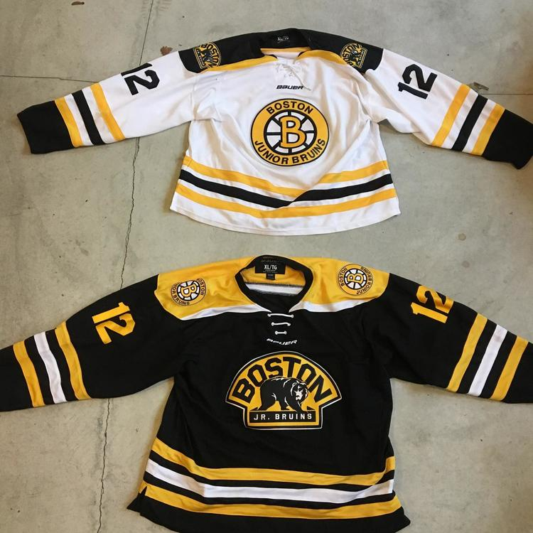 cheap for discount 6cbce 96c99 Boston Junior Bruins Home/Away Jerseys