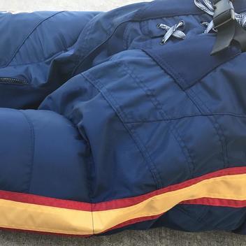 e99487c1952 Bauer Nexus Pro Stock Hockey Pants Navy Blue Peoria Rivermen Large 10224