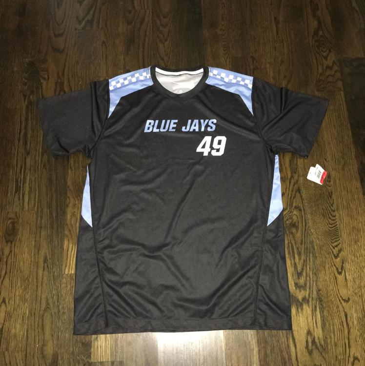 the latest a6d0d 05bdc New Nike Johns Hopkins Blue Jays #49 Shooter LG