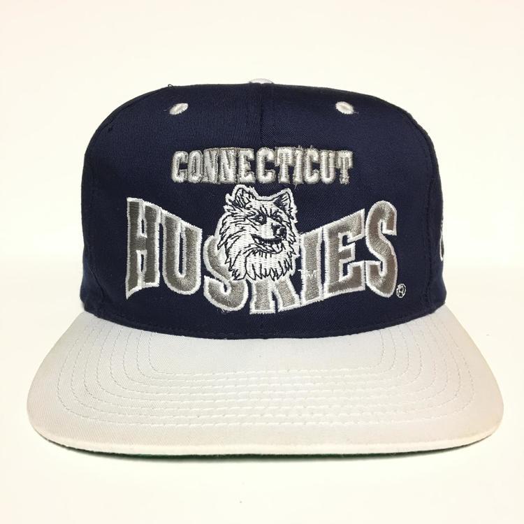 82548fd8180 Vintage Uconn Huskies Snapback hat University of Connecticut - SOLD