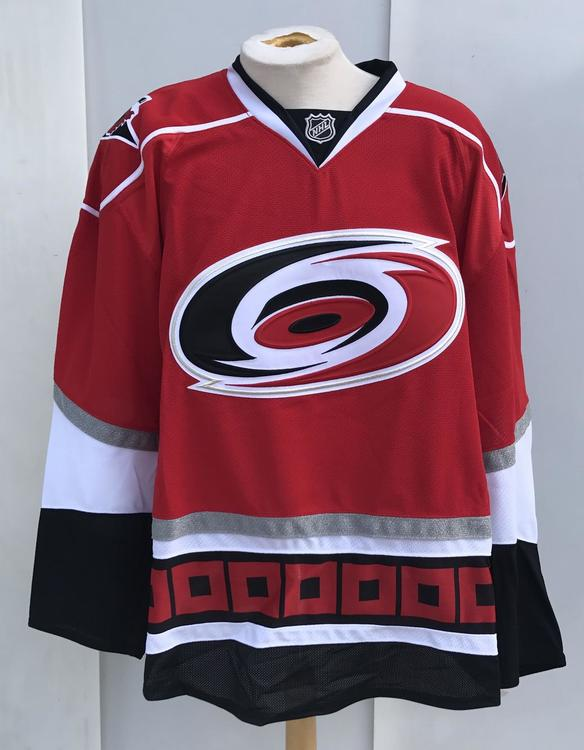 Reebok Edge Carolina Hurricanes Pro Stock Official Game Jerseys RED GOALIE  - 15% OFF 8c1753d1d64