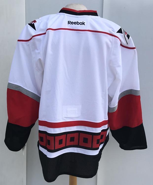 0d3277da82c Reebok Edge Carolina Hurricanes Pro Stock Official Game WHITE ...