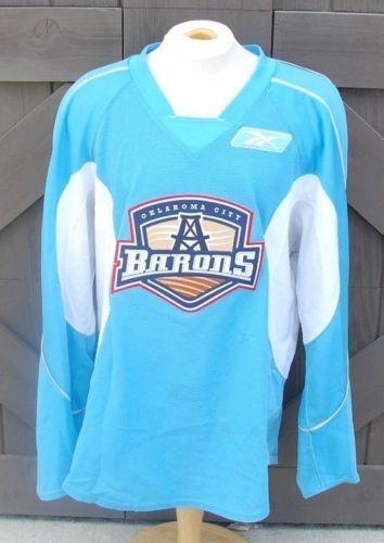 CCM   Reebok Oklahoma City Barons Pro Stock Practice Jerseys Sky Blue   Powder  Blue 58 Large - 15% OFF b2244fc6acb
