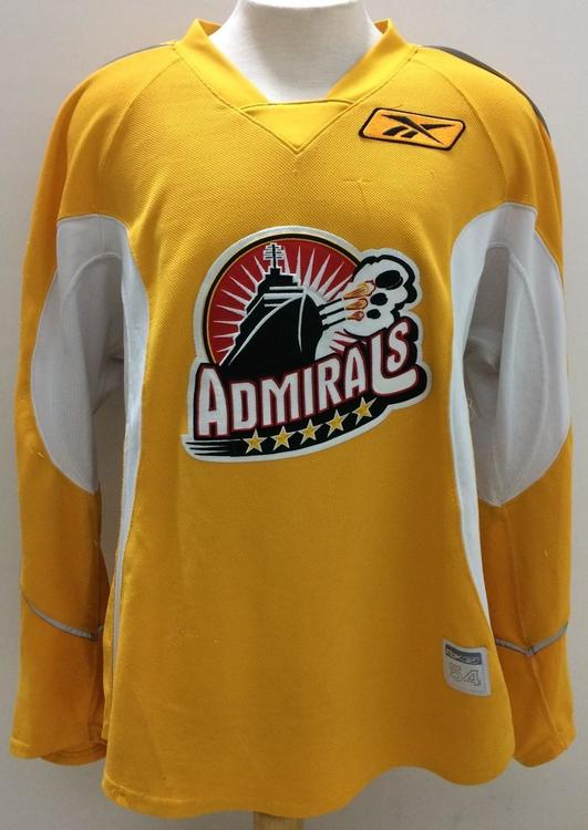 43a4ee3a914 CCM / Reebok Norfolk Admirals Pro Stock Practice Jerseys Yellow 54 Small.  Related Items