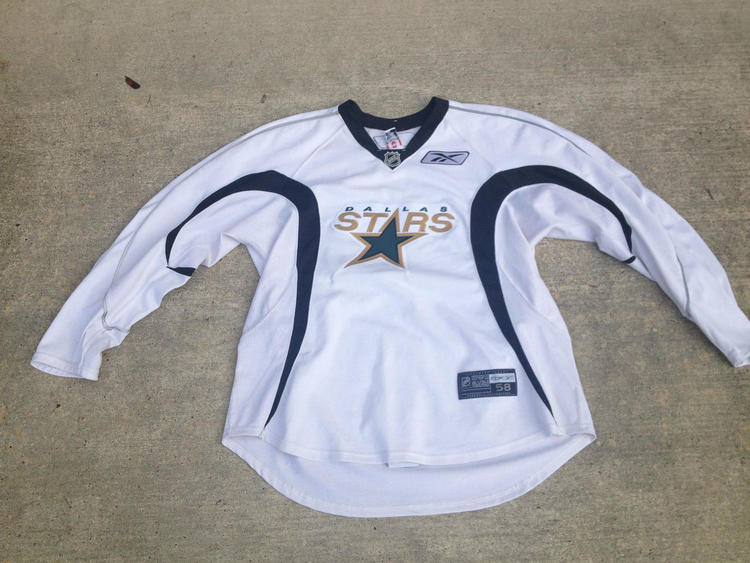 new product 9a020 94096 Reebok Edge White NHL Dallas Stars Practice Jersey SR Size 58 #27 Pardy