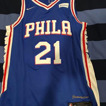 Medium Nike Replica Stitched Joel Embiid Sixers Jersey - SOLD c702a0189dd