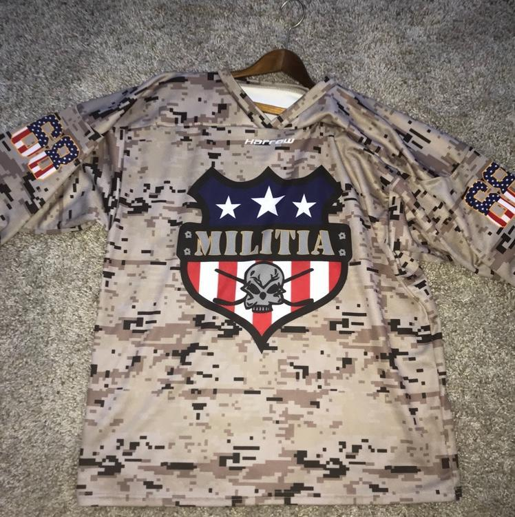 Harrow Militia Camo Jersey Xl 68 Sold Hockey Jerseys