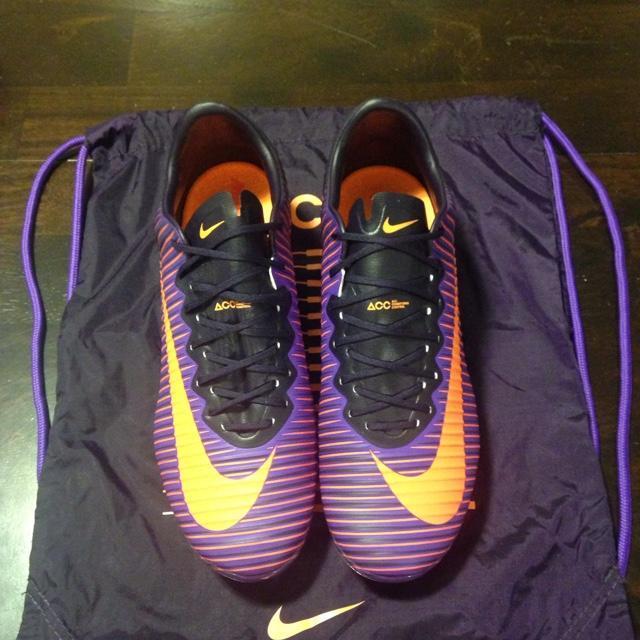 4131517f5 Nike Mercurial Vapor XI FG Soccer Cleats Purple Orange