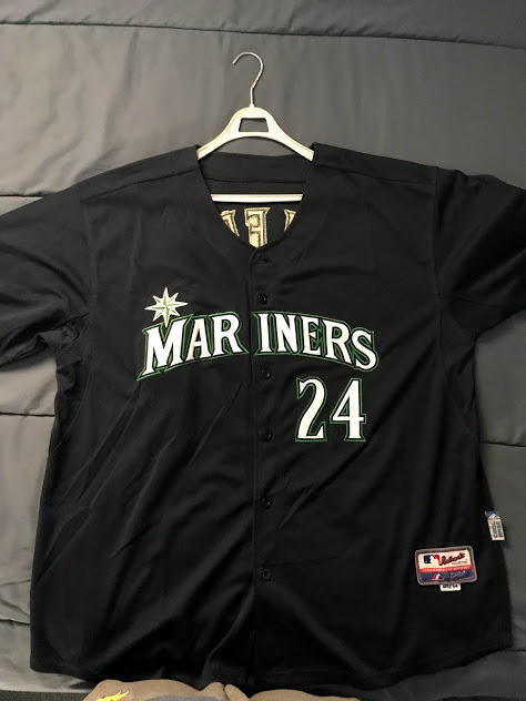 official photos 1810f 06578 Ken Griffey Jr. Majestic Seattle Mariners #24 Jersey men's 2XL