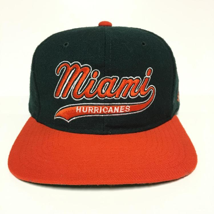 detailed look e381b 2ec5c Vintage Miami Hurricanes Starter Snapback Hat