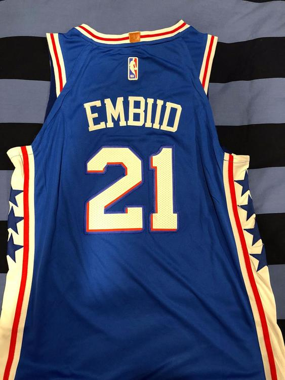 promo code 7abfb 3cce3 Brand New Large Nike Replica Stitched Joel Embiid Sixers Jersey
