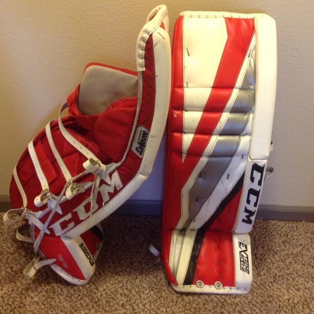 """CCM Eflex 3 Pro Custom Set - 35+1""""   SOLD   Hockey Goalie"""