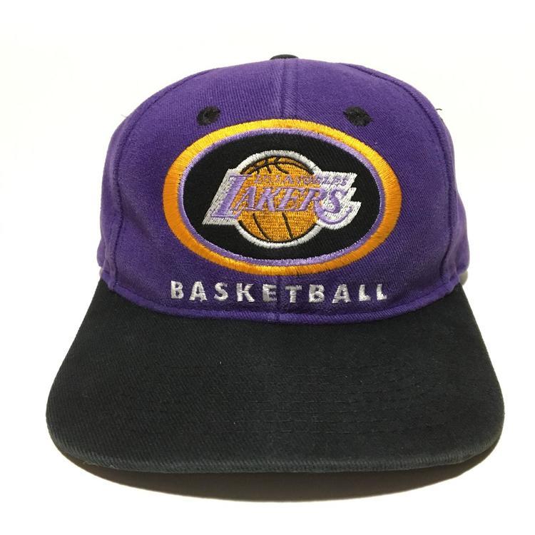 b74665b6 Vintage Los Angeles Lakers Snapback Hat | SOLD | Basketball Apparel ...