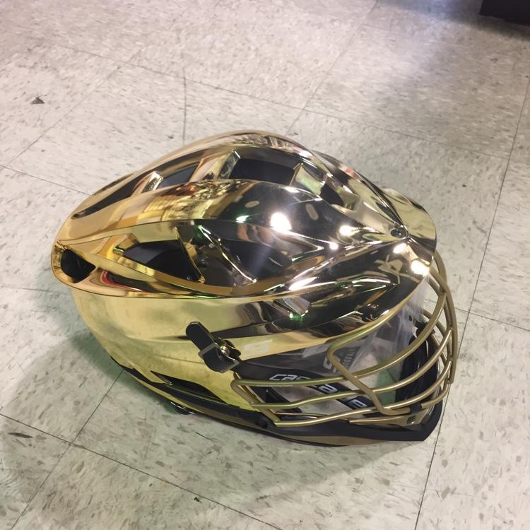 Cascade S Gold Chrome Shell, Gold Mask, Gold Chin - Notre Dame Colors