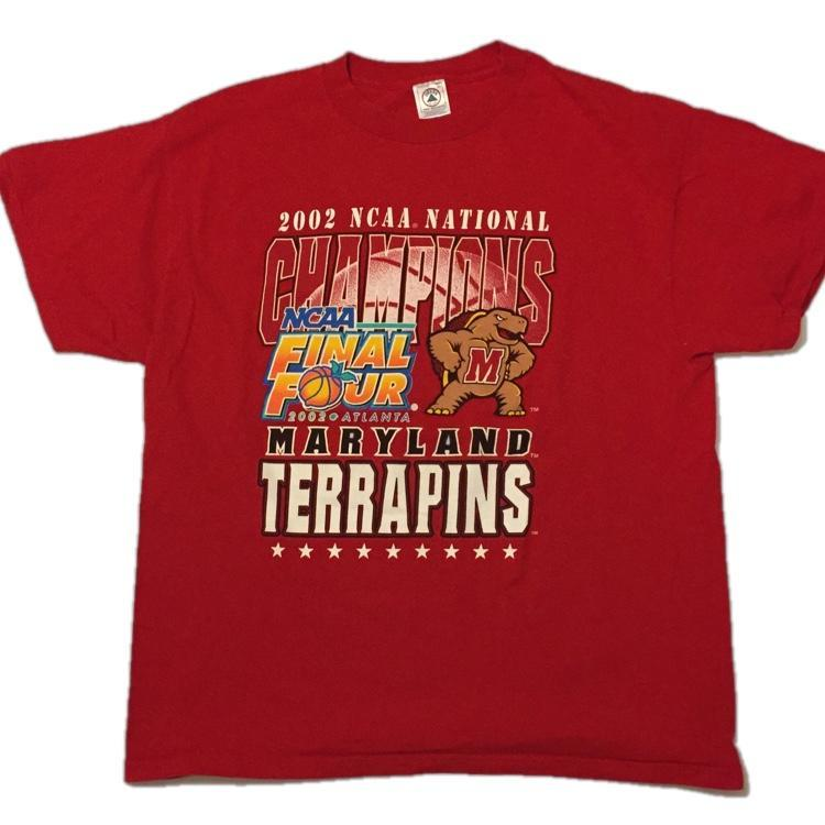 Vintage Maryland Terrapins 2002 NCAA Final Four National Champions T Shirt