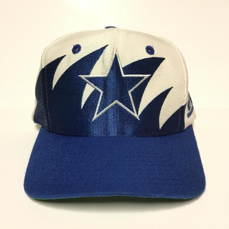 ae15f8876a945 Vintage Dallas Cowboys Logo Athletic Sharktooth Snapback Hat