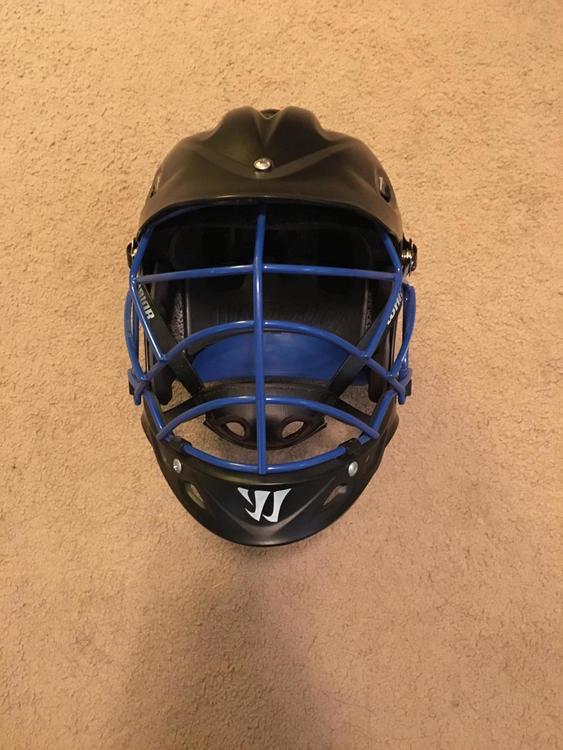 Warrior New Tii Helmet Matte Black Blue Face Mask Sold