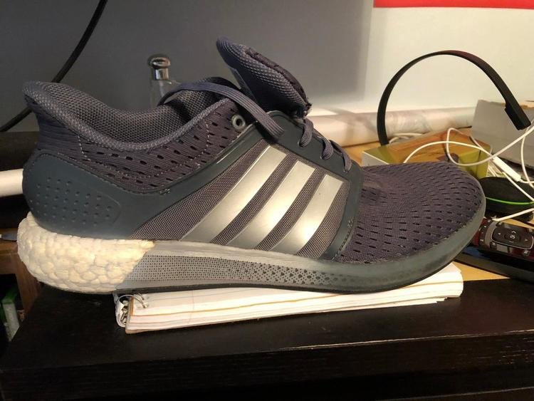adidas Solar Boost M Grey Silver White Mens Running Shoes