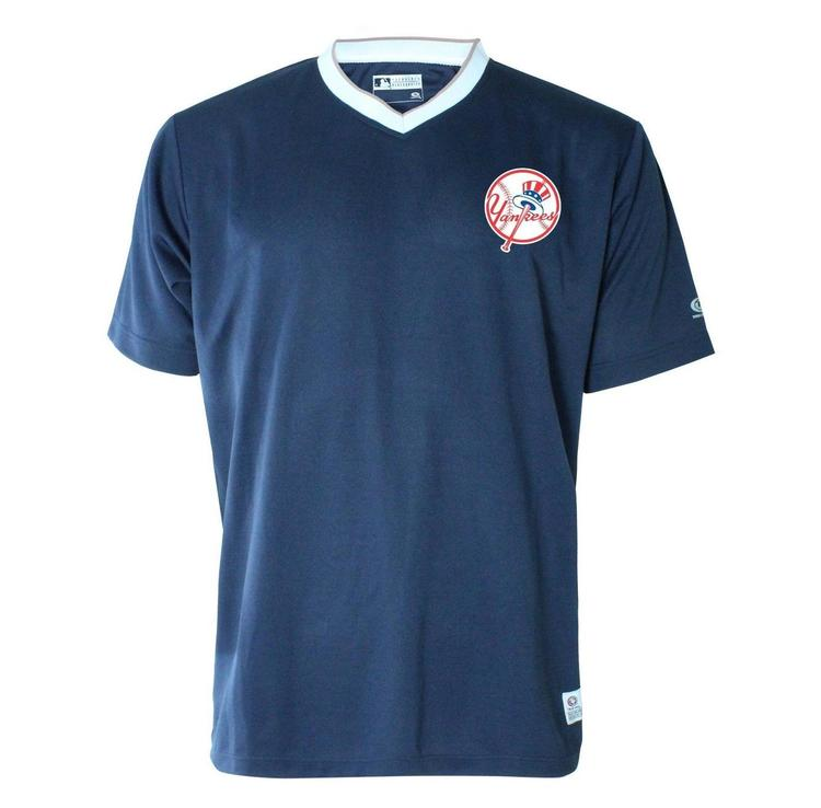 free shipping 33d7c 51ed3 MLB New York Yankees Men's Active Wear Pullover Practice Jersey New Team  Logo Adult XL
