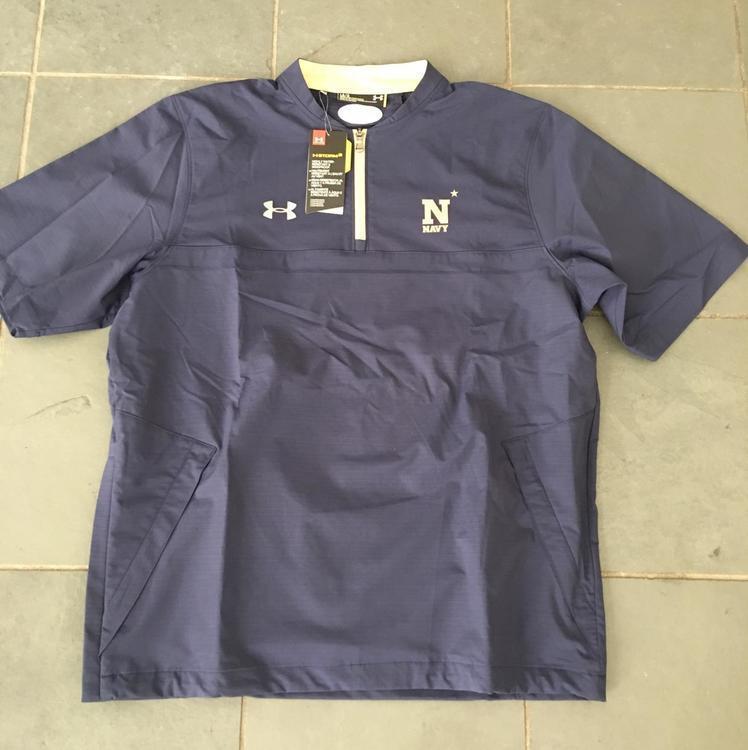 Cena obniżona szczegółowy wygląd szczegółowy wygląd NWT Under Armour Navy Midshipmen Naval Academy Jacket LG $80 Lacrosse  Football