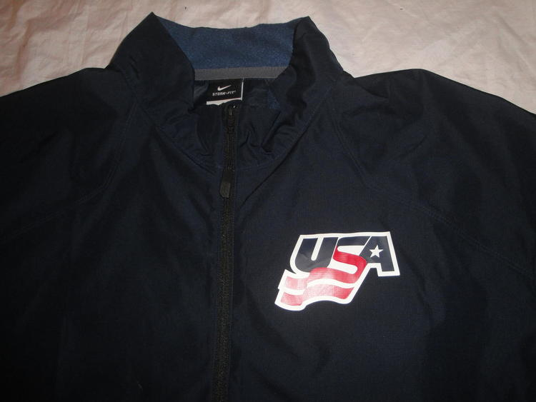 76bb9d4a24f6 TEAM USA NIKE HOCKEY 1 4 ZIP STORM FIT WARM UP JACKET LARGE EUC