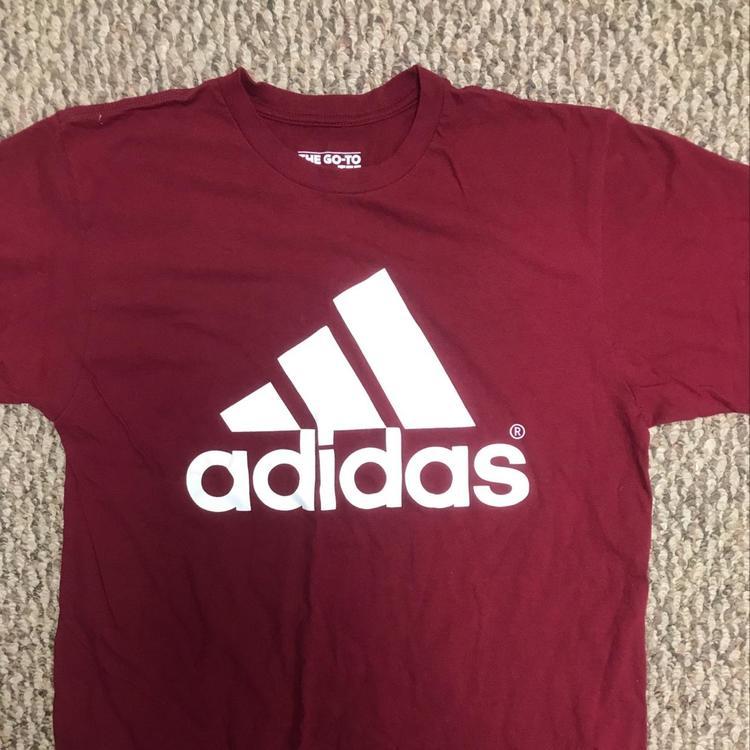 adidas shirt maroon