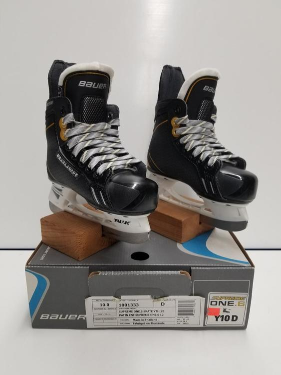 New Bauer Supreme One 6 Skates Youth Size 10