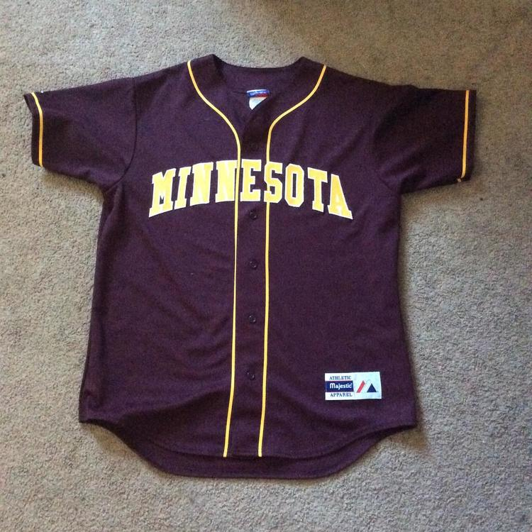 sneakers for cheap 97657 9b638 New Majestic Minnesota Gophers Jersey