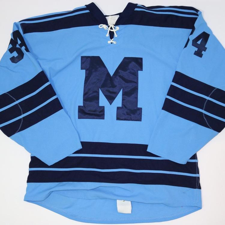 St. Michael s Buzzers Game Jersey Baby Blue Navy  34 - SOLD 957c16301b7