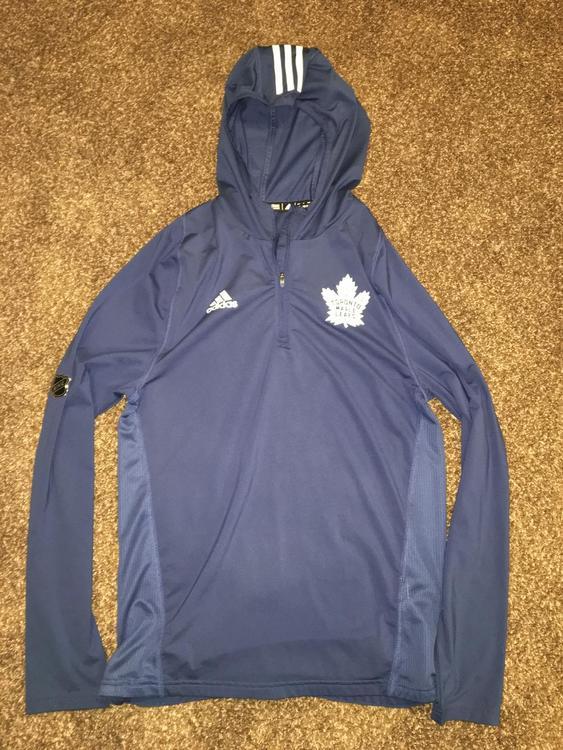 sale retailer f087d 32d67 Toronto Maple Leafs Adidas Authentic Pro Climalite Hoodie