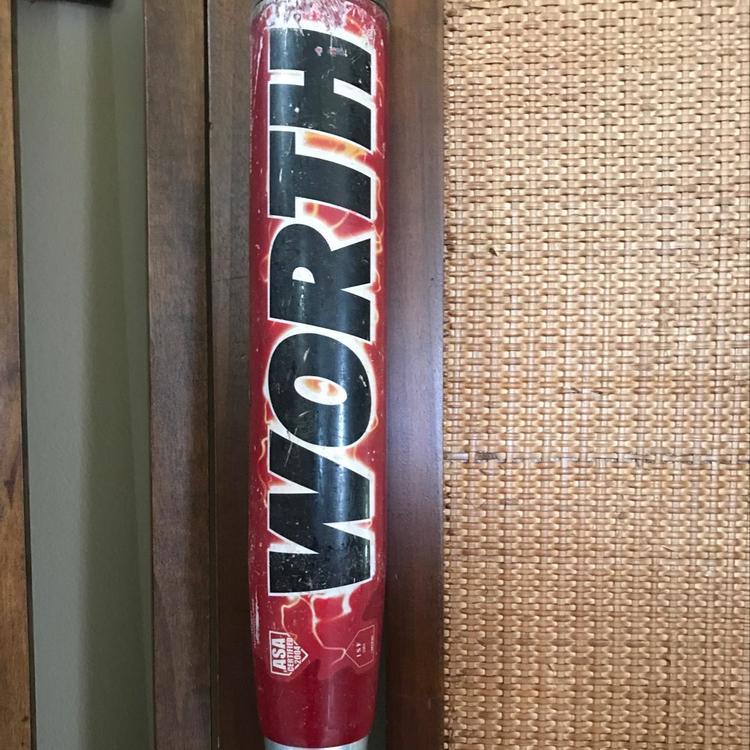 "Worth AMP EST Jeff Hall ASA Certified 34""/26 5 Oz Slow Pitch Softball Bat"