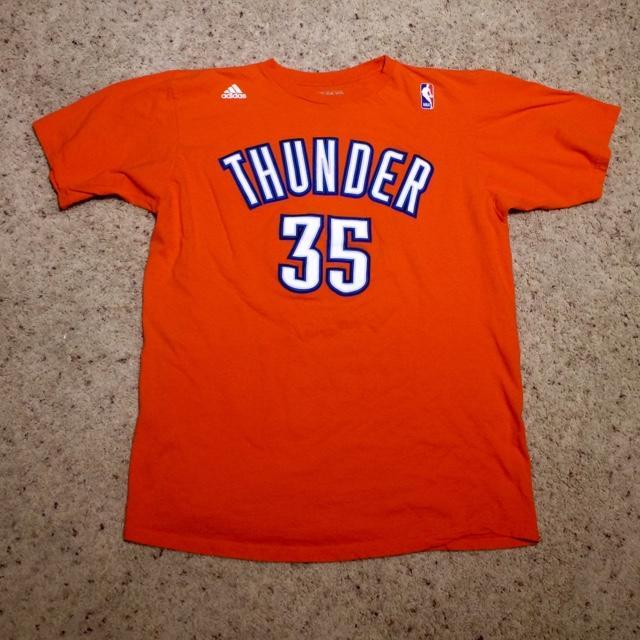 uk availability c2e93 b6e76 OKC Thunder Kevin Durant Adidas T-shirt