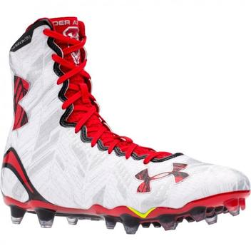 54aa18614a5 Under Armour New Mens LAX Highlight MC Football Cleats White Red ...