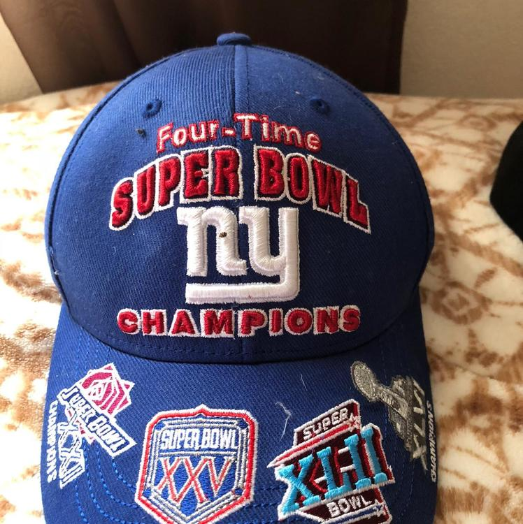New York Giants Hat 4 Time NFL Super Bowl Champs  e56843fd45c