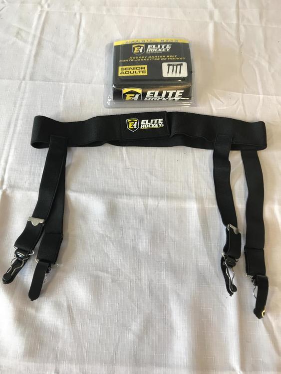 New elite hockey senior garter belt