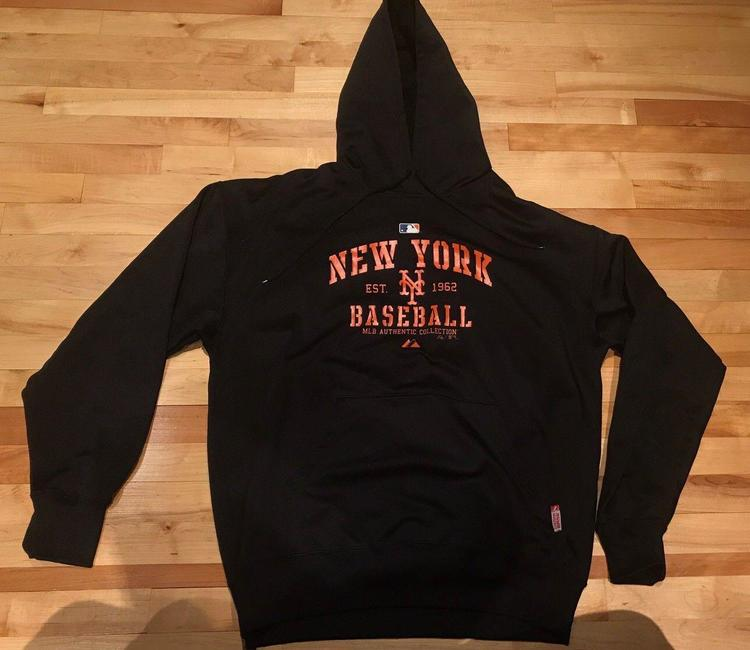 san francisco 8f6aa 2c5fd Majestic Authentic Collection Sz XL New York Mets Therma Based On Field  Hoodie