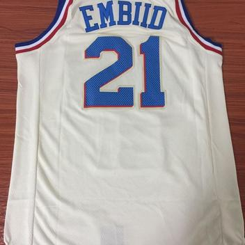 044b774b516 Men 21 Joel Embiid City Jersey White Philadelphia 76ers City Edition  Fanatics