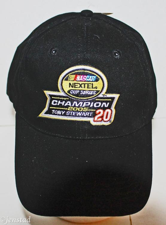 quality design bb154 76765 TONY STEWART  20 NASCAR NEXTEL CHAMPIONSHIP BLACK CAP HAT WINNERS CIRCLE  2005 NEW   Apparel Hats   SidelineSwap