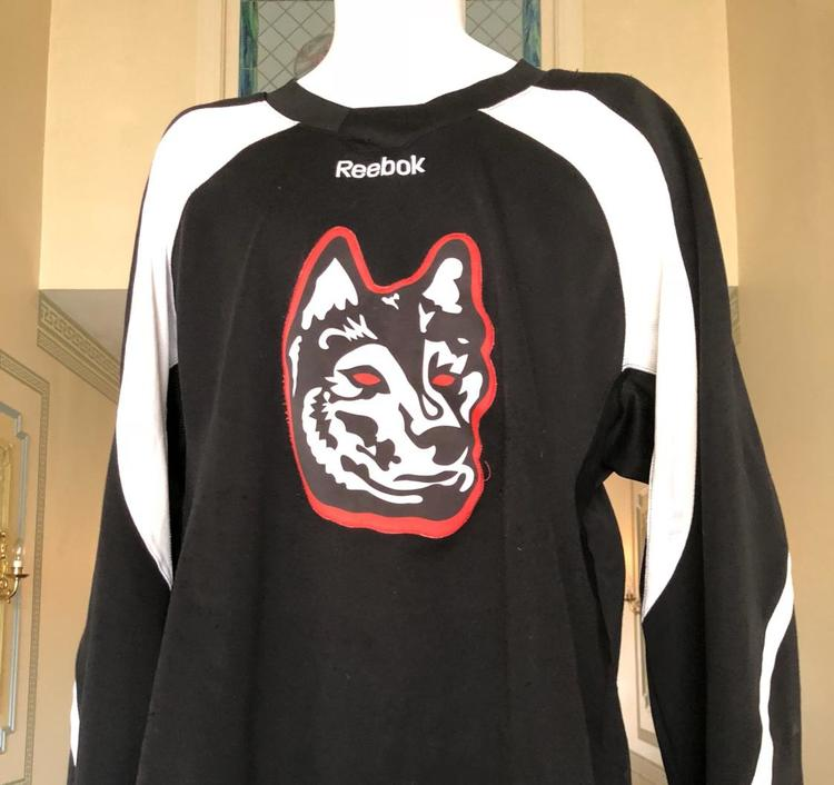 watch 72fc8 731f8 northeastern huskies ncaa prostock practice jersey bauer large