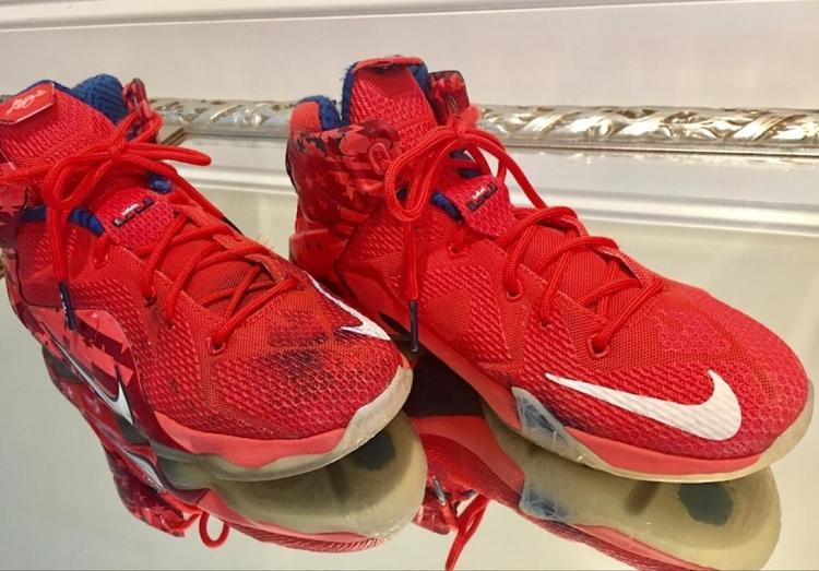 promo code d97db 7c62b This is for ONE pair of Nike Lebron XII 12 USA independence day 4th of july