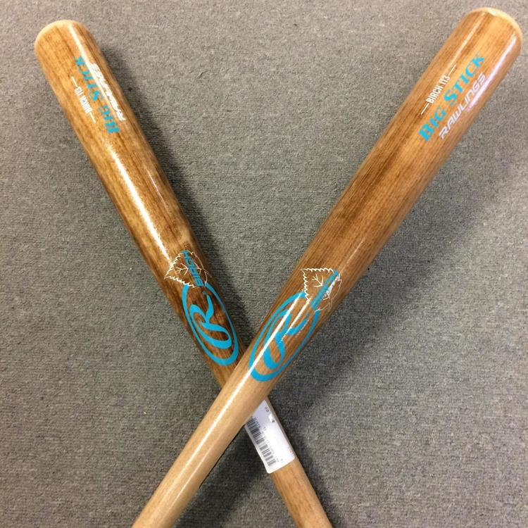 (2-pack) New Rawlings Big Stick I13 Birch Baseball Bat - I13BIR
