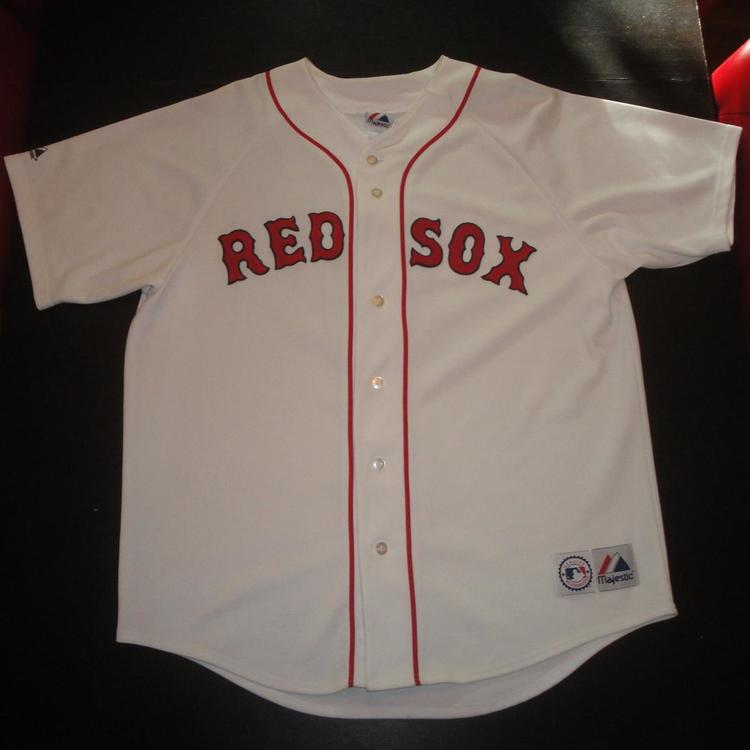 newest b7f2c 65f5b BOSTON RED SOX TED WILLIAMS JERSEY WHITE XL MAJESTIC NICE CONDITION