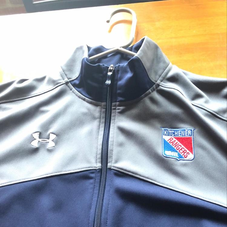 b24c44cca38 OHL Kitchener Rangers Team Issued Under Armour Zip Up Jacket. Great  condition looks new.