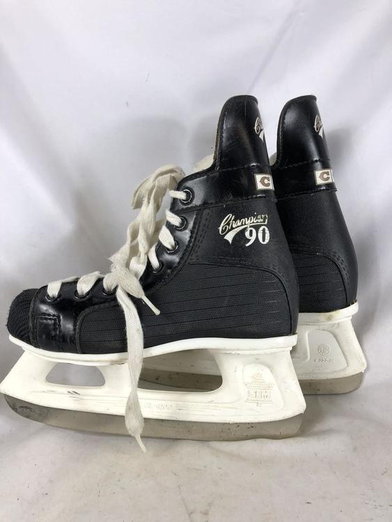 CCM Champion 90 , Size 1 (black and white) | Hockey Skates ...