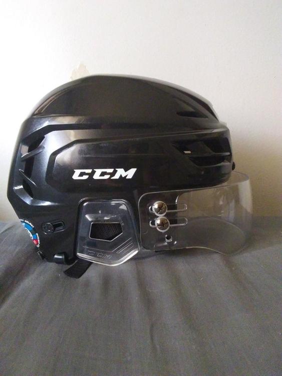 2b10b625 CCM Tacks 310 Adult Large Black Helmet/Tour Clear Visor Combo   SOLD    Hockey Helmets   SidelineSwap
