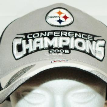 PITTSBURGH STEELERS REEBOK NFL XLIII AFC CONFERENCE CHAMPIONSHIP CAP HAT  2008 ONE SIZE a78407d52