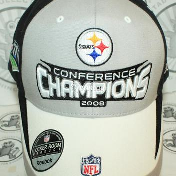 PITTSBURGH STEELERS REEBOK NFL XLIII AFC CONFERENCE CHAMPIONSHIP CAP HAT  2008 ONE SIZE. Comments (0) Favorites (0) 799907da5